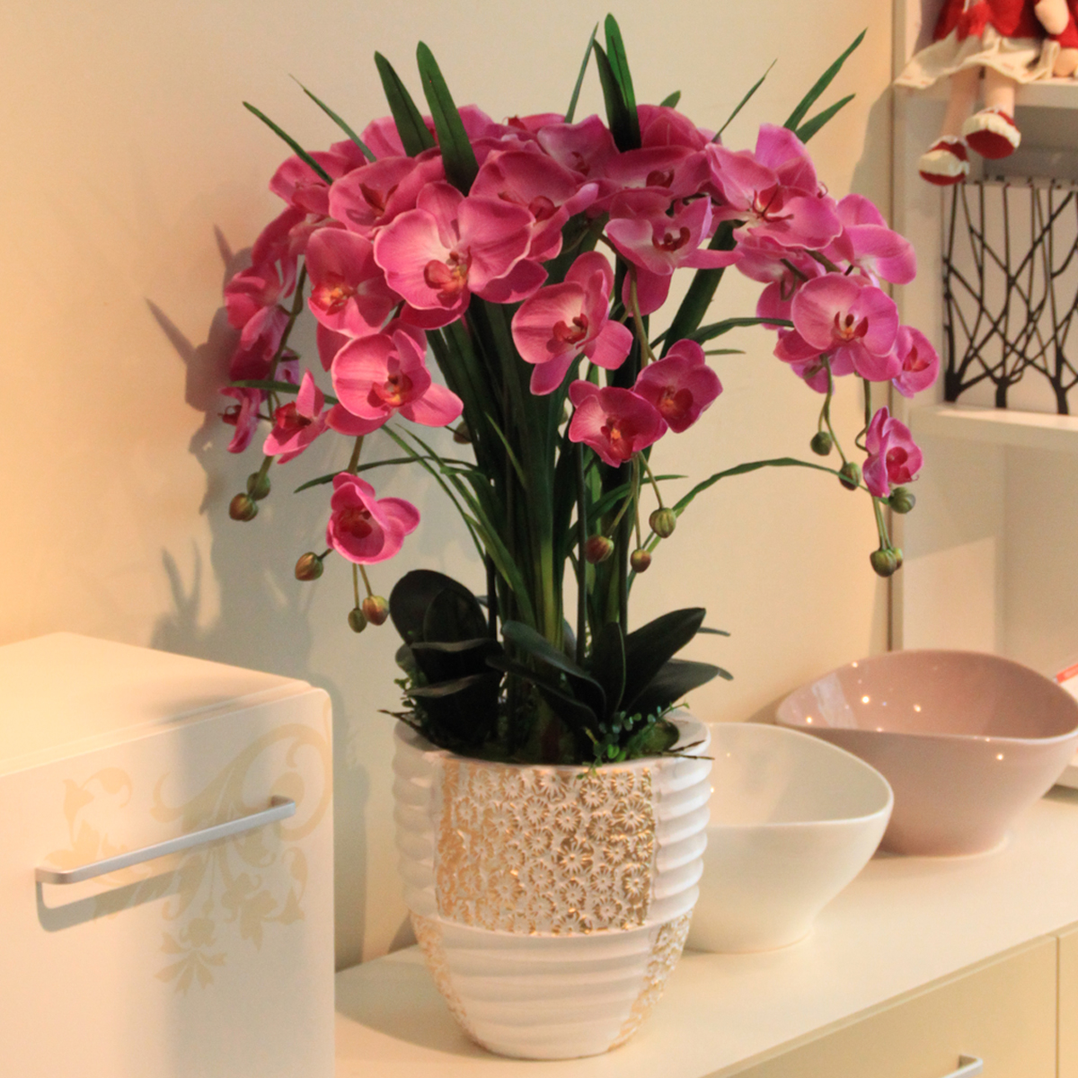 Artificial-Flower-Phalaenopsis-Bowyer-Set-Home-Decoration-Flower-French-font-b-Contact-b-font-First-Confirm