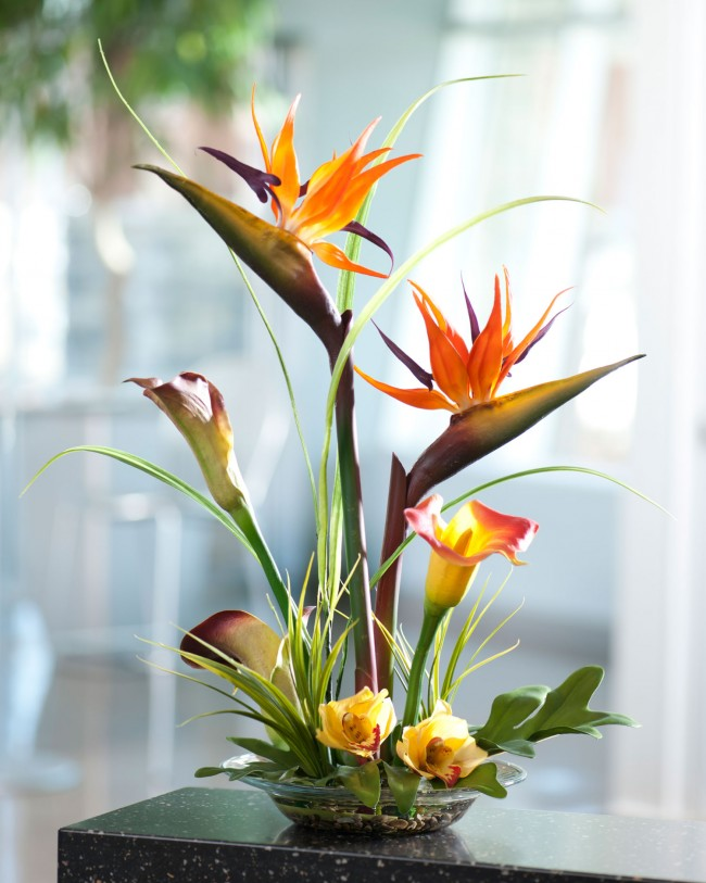 bird-of-paradise-and-calla-lily-flower-for-artificial-flower-arrangement-beautiful-artificial-flower-arrangements-which-suitable-for-wedding-and-table-decor-artificial-flower-arrangements-650x813