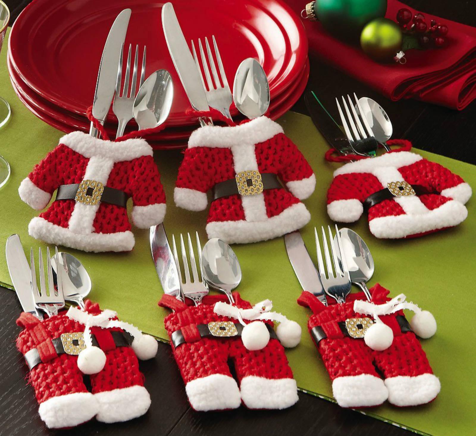 Christmas-themed-Santa-suit-silverware-holders