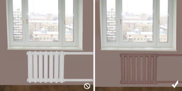 радиаторы отопления в цвет с комнатой