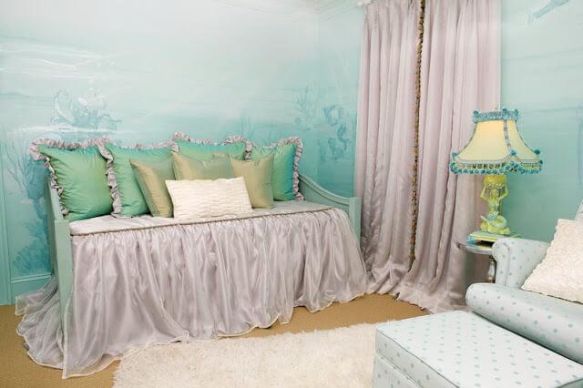 Морская детская комната в стиле «Морское дно»