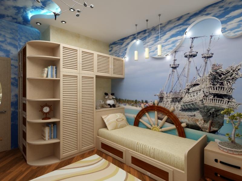 Дизайн в морском стиле детская