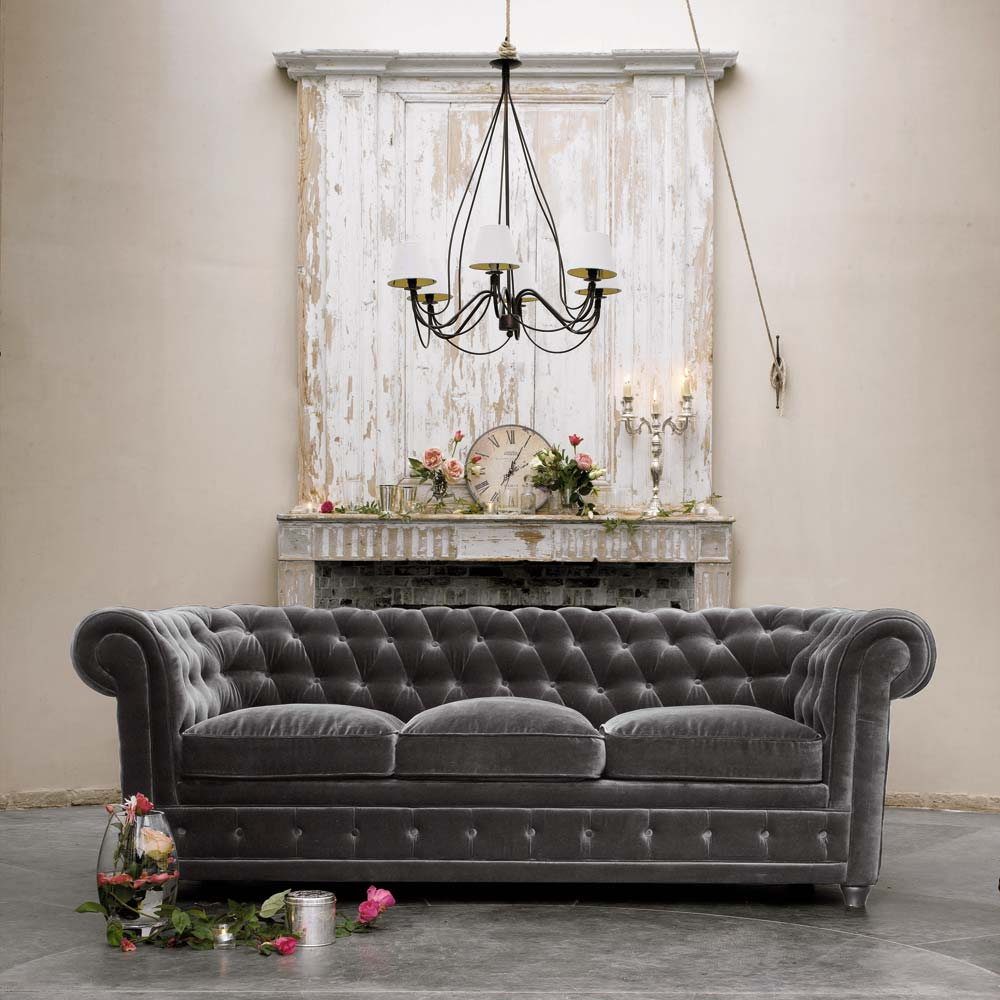 Велюр диван