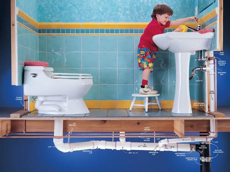 Канализация в ванной комнате своими руками видео