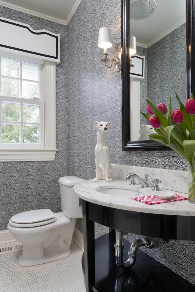 Черно-белые ванные