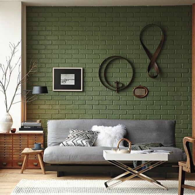Стены кирпичные в дизайне