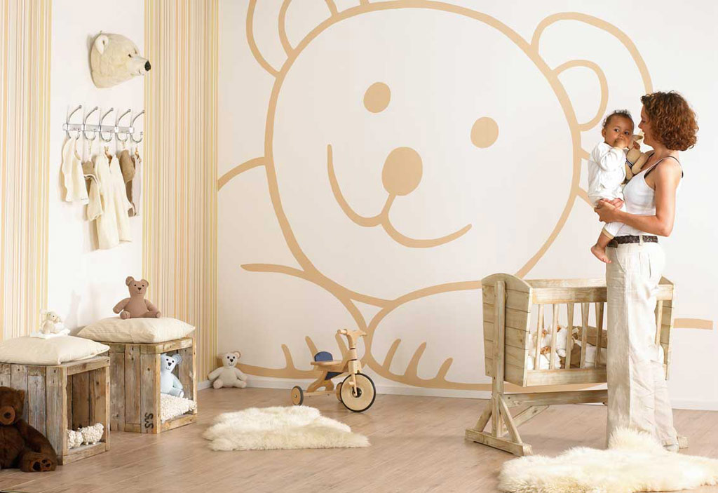 Teddy-bear-wall-decor-idea-design-for-kids-baby-room