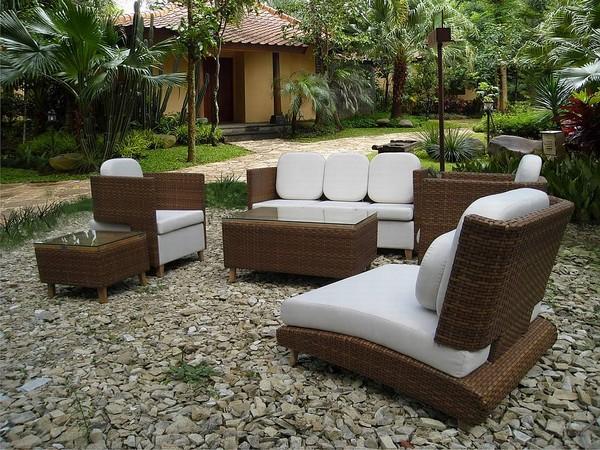 Мягкая садовая мебель для патио