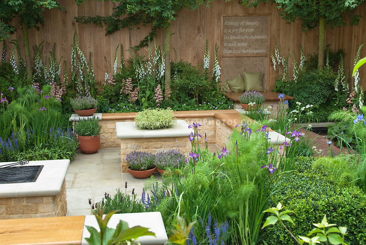 Meditation Garden with poem by Keats