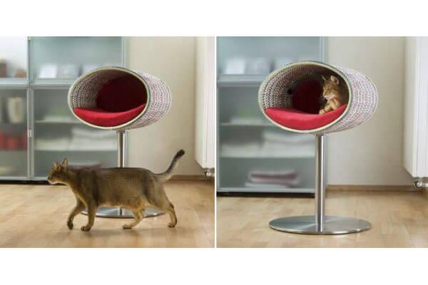 Кровать для котов на ножке