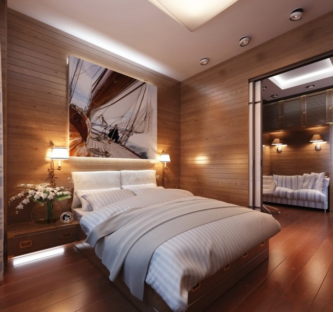 New-bedroom-design-with-Masculine-and-travel-theme-Cabin-Style-Bedroom-Decor