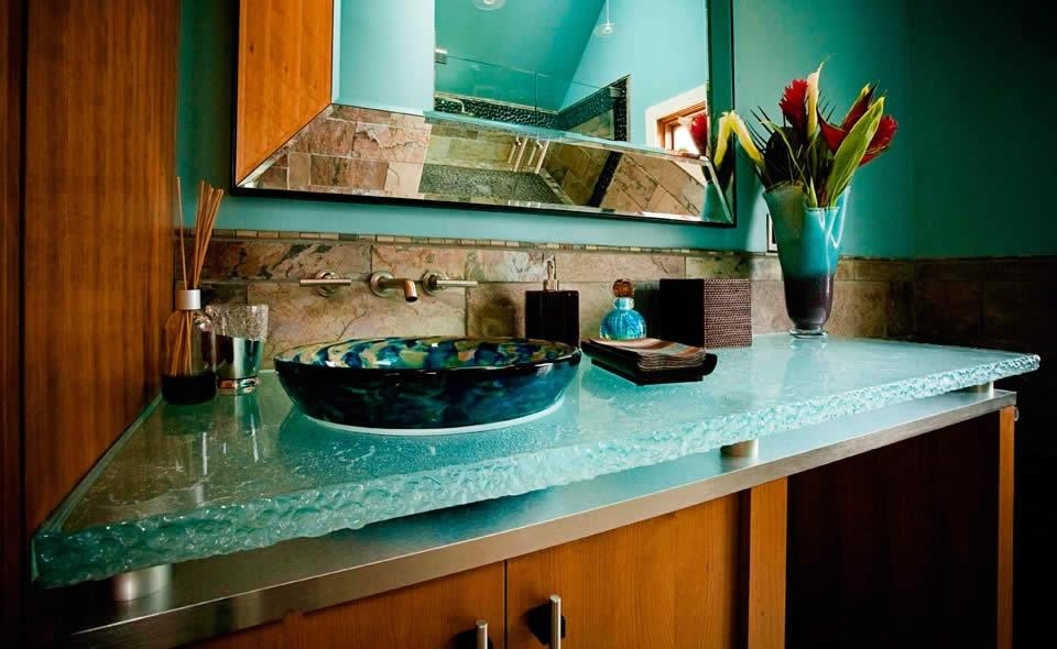 Столешница из стекла для кухни своими руками