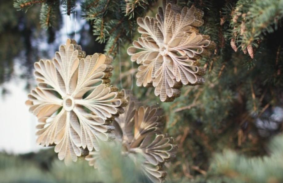 Объемные снежинки из бумаги от Tifani Lyn