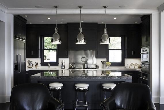 темный дизайн кухни