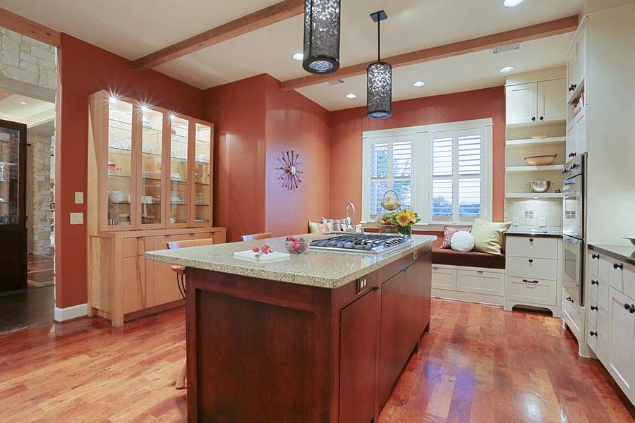 дизайн кухни терракотового цвета
