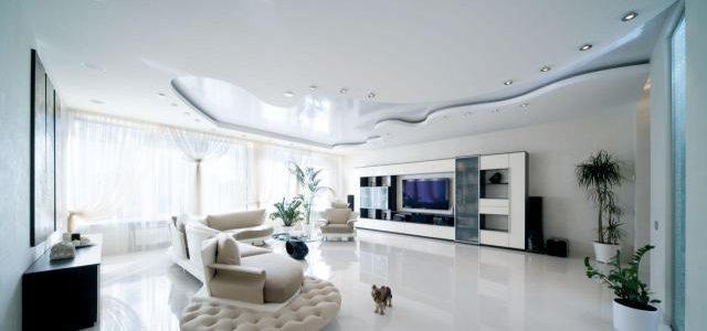 плоскость натяжные потолки
