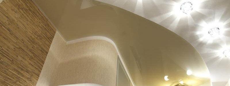установка светильников на натяжной потолок