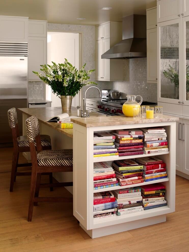 кухня шкафы для хранения книг