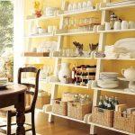 деревянный стеллаж на кухню