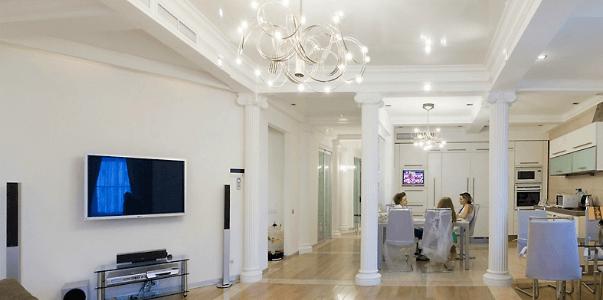 Подвесные потолочные люстры для гостиной 3