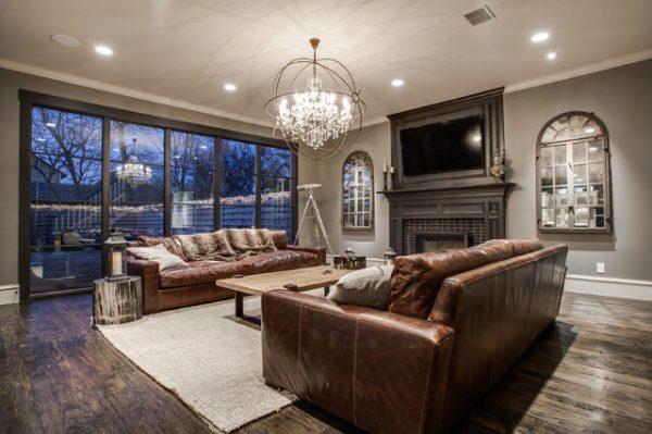Подвесные потолочные люстры для гостиной