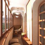 Остекление балкона деревянными рамами 2