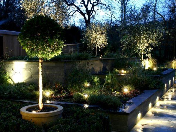 Светодиодные светильники в ландшафтном дизайне 2