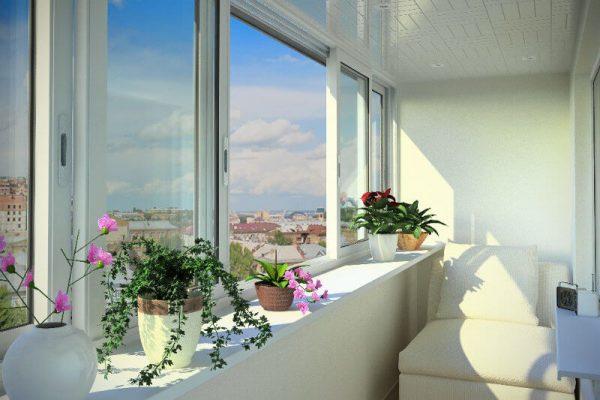 Холодное остекление балкона 2