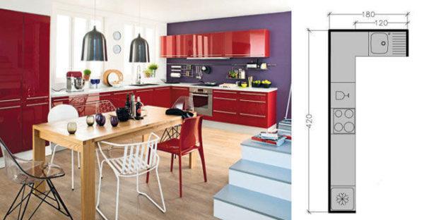 кухня в форме L