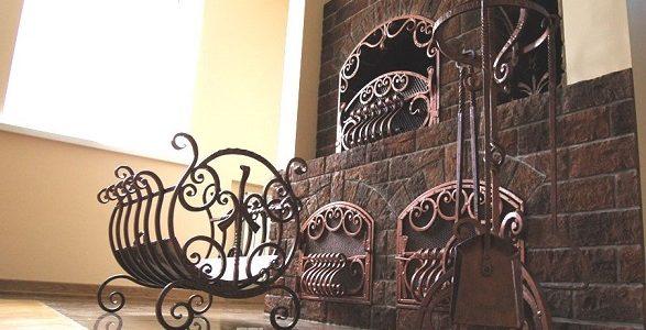 Кованые каминные аксессуары