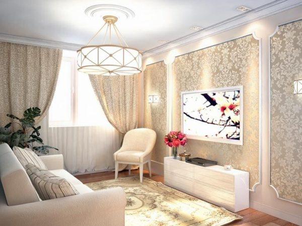 красивая люстра в гостиную 2