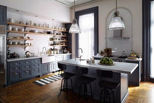 кухня без верхних шкафов 2021